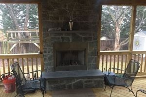 Gas and Wood Fireplace